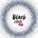 Insegna di Black Friday con scintillio Fotografie Stock Libere da Diritti