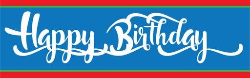Insegna di buon compleanno per il ragazzo Immagine Stock