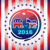 Insegna di campagna di giorno delle elezioni 2016 Fotografia Stock