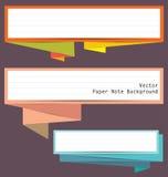 Insegna di carta della nota di origami Fotografia Stock Libera da Diritti