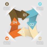 Insegna di carta di affari di origami di opzioni moderne di stile Fotografia Stock