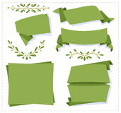 Insegna di carta di origami della raccolta Immagini Stock Libere da Diritti