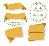 Insegna di carta di origami della raccolta Immagine Stock Libera da Diritti