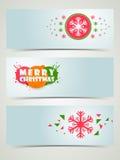 Insegna di celebrazione di Buon Natale o intestazione di web Fotografie Stock Libere da Diritti