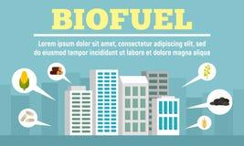 Insegna di concetto del combustibile biologico della citt?, stile piano royalty illustrazione gratis