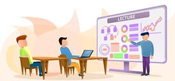 Insegna di concetto della classe di conferenza, stile del fumetto illustrazione vettoriale