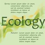 Insegna di ecologia Sorgente Autunno Fotografia Stock