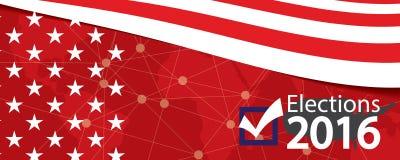 Insegna 2016 di elezioni illustrazione di stock