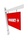 Insegna di emergenza Fotografia Stock