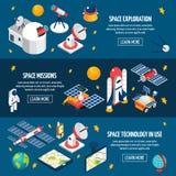 Insegna di esplorazione spaziale illustrazione vettoriale