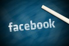 Insegna di Facebook Immagine Stock