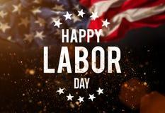 Insegna di festa del lavoro, fondo patriottico Immagine Stock