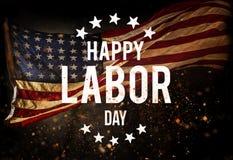 Insegna di festa del lavoro, fondo patriottico fotografia stock libera da diritti