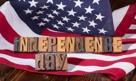 Insegna di festa dell'indipendenza Fotografie Stock