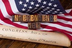 Insegna di festa dell'indipendenza Immagine Stock Libera da Diritti