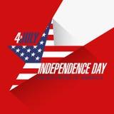 Insegna di festa dell'indipendenza di U.S.A. Fotografia Stock Libera da Diritti