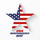 Insegna di festa dell'indipendenza di U.S.A. Immagine Stock Libera da Diritti