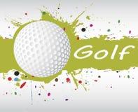 Insegna di golf Spruzzata verde astratta Fotografia Stock Libera da Diritti