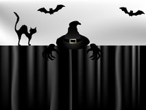 Insegna di Halloween Fotografia Stock