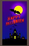 Insegna di Halloween, illustrazione di vettore Fotografia Stock Libera da Diritti