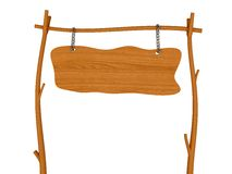 Insegna di legno in bianco Immagini Stock Libere da Diritti