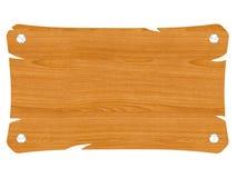 Insegna di legno in bianco con la vite Immagini Stock Libere da Diritti