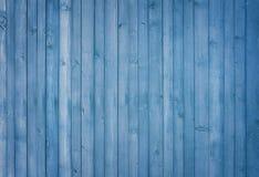 Insegna di legno blu del fondo dipinta Fotografia Stock
