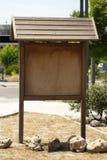 Insegna di legno di informazioni Fotografia Stock Libera da Diritti