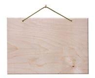 Insegna di legno - isolata con il percorso di residuo della potatura meccanica Fotografie Stock