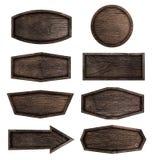 Insegna di legno isolata su fondo bianco Immagini Stock Libere da Diritti