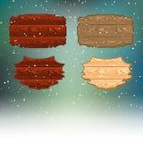 Insegna di legno per i messaggi di congratulazioni Immagini Stock Libere da Diritti