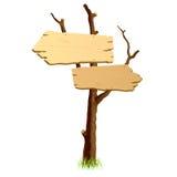 Insegna di legno. Vettore. Fotografia Stock