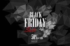Insegna di offerta di vendita e di promozione di Black Friday Fotografia Stock