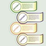 Insegna di opzioni di Infographics. Illustrazione di vettore. illustrazione di stock