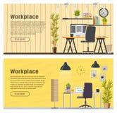 Insegna di orizzontale due per web design Fotografia Stock