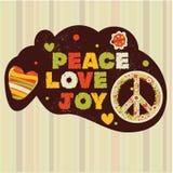 Insegna di pace del Hippie Fotografie Stock