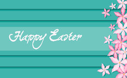 Insegna di Pasqua con i fiori Immagini Stock Libere da Diritti