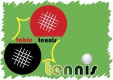 Insegna di ping-pong Fotografia Stock Libera da Diritti