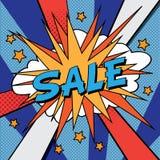Insegna di Pop art di vendita Immagine Stock Libera da Diritti