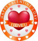 Insegna di progettazione per il giorno del ` s del biglietto di S. Valentino illustrazione vettoriale