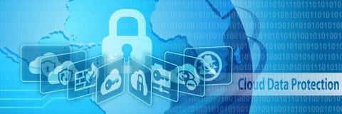 Insegna di protezione di protezione dei dati della nuvola royalty illustrazione gratis