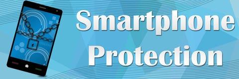 Insegna di protezione di Smartphone Fotografia Stock