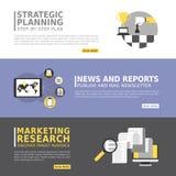 Insegna di pubblicità di affari nella progettazione piana Immagine Stock Libera da Diritti