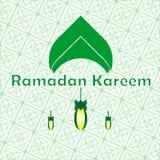 Insegna di Ramadhan Kareem per i musulmani che celebrano fotografia stock libera da diritti