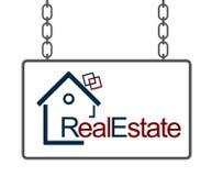 Insegna di Real Estate Immagine Stock