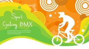 Insegna di riciclaggio di Sport Competition Colorful dell'atleta di BMX illustrazione vettoriale