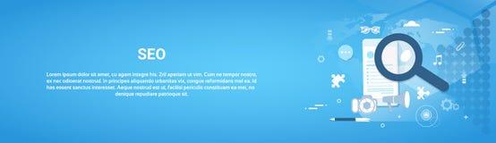 Insegna di Seo Optimization Concept Horizontal Web Illustrazione Vettoriale