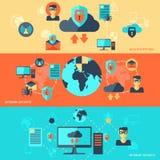 Insegna di sicurezza della rete Immagine Stock