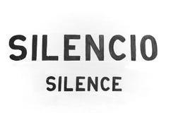 Insegna di silenzio Fotografia Stock Libera da Diritti