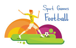 Insegna di Sport Competition Colorful dell'atleta del giocatore di football americano royalty illustrazione gratis
